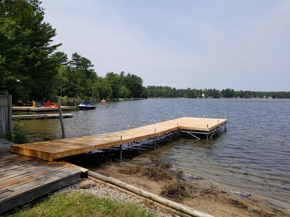 Lake Cooch Pipe Dock
