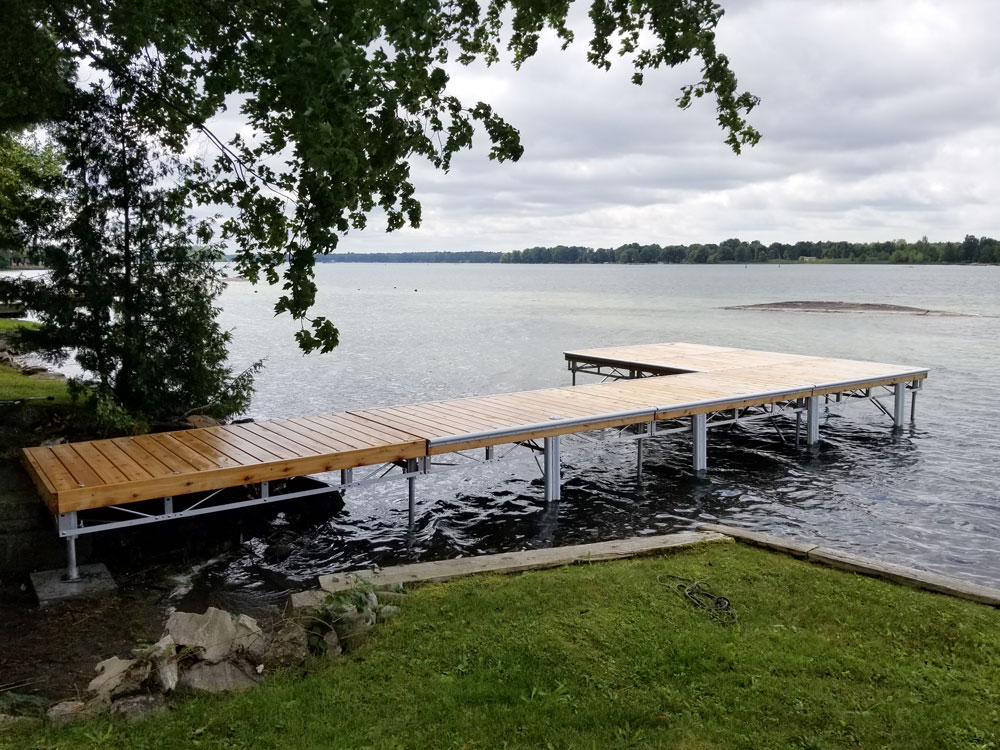 Long Pipe dock into the lake.