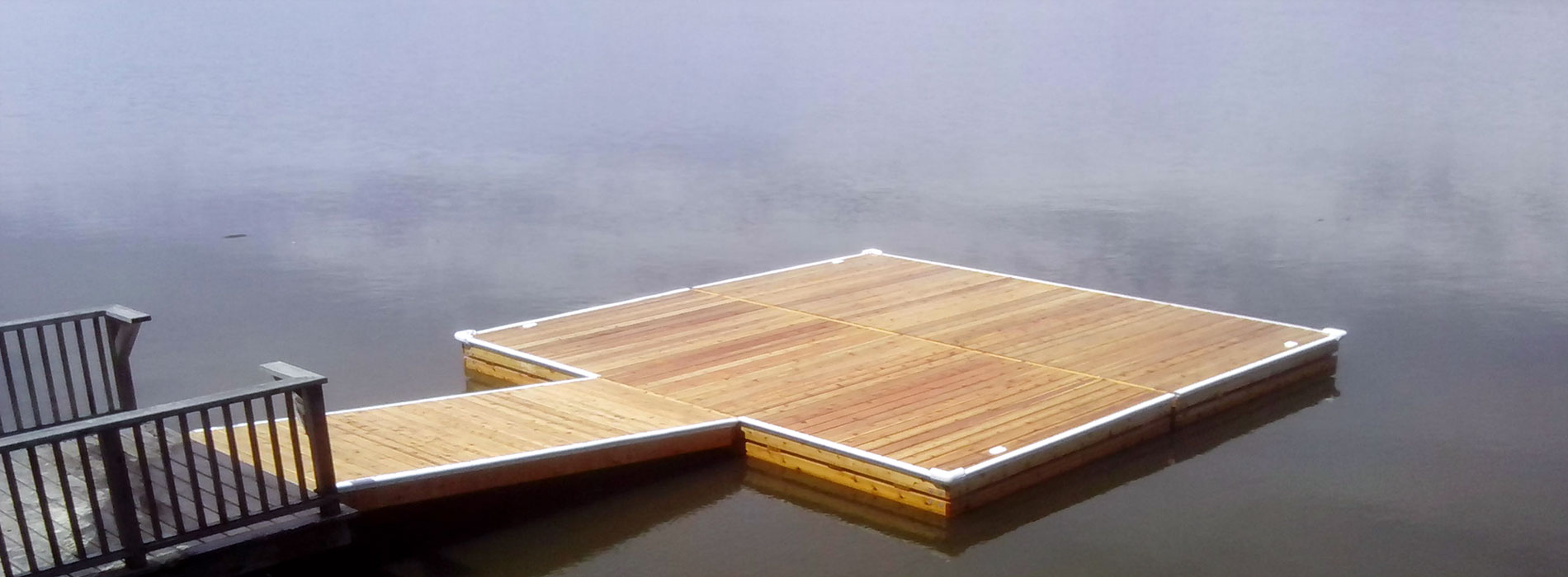 A 20×20′ floating dock.