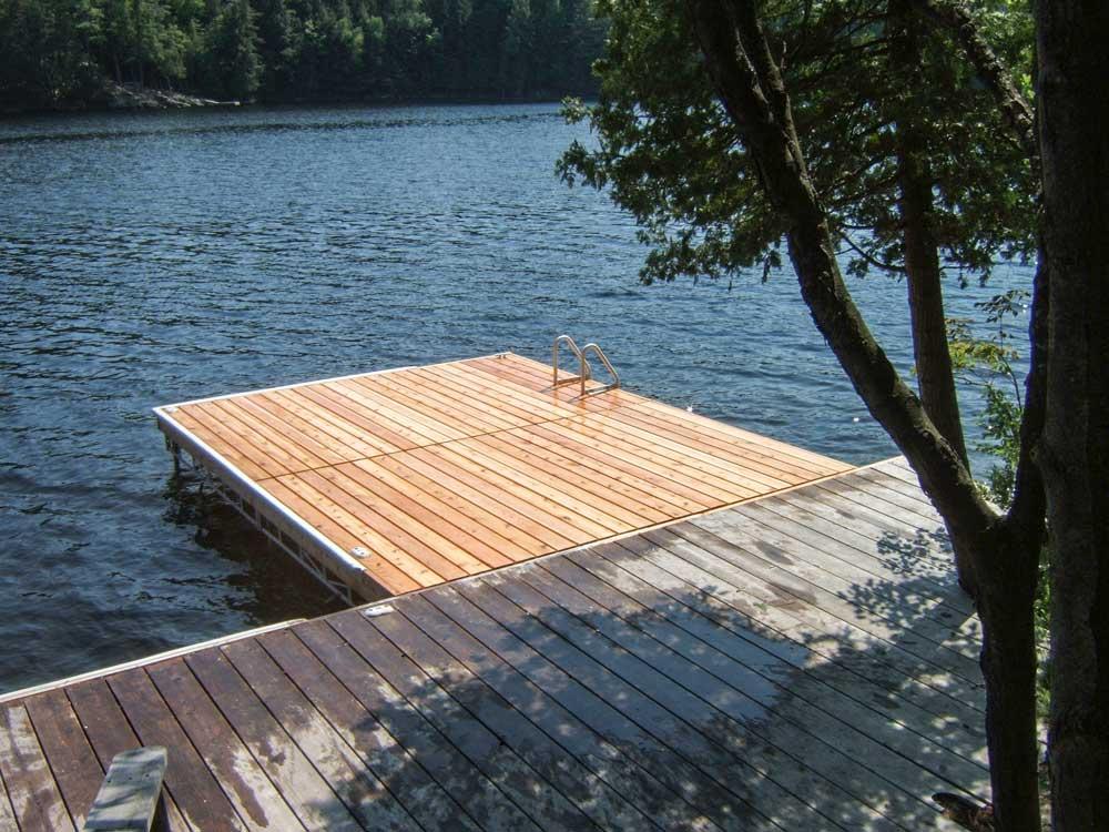 A Pipe Dock on Lake Muskoka.