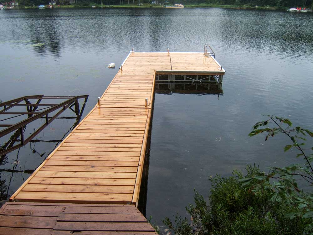 A Pipe Dock on Pine Lake.