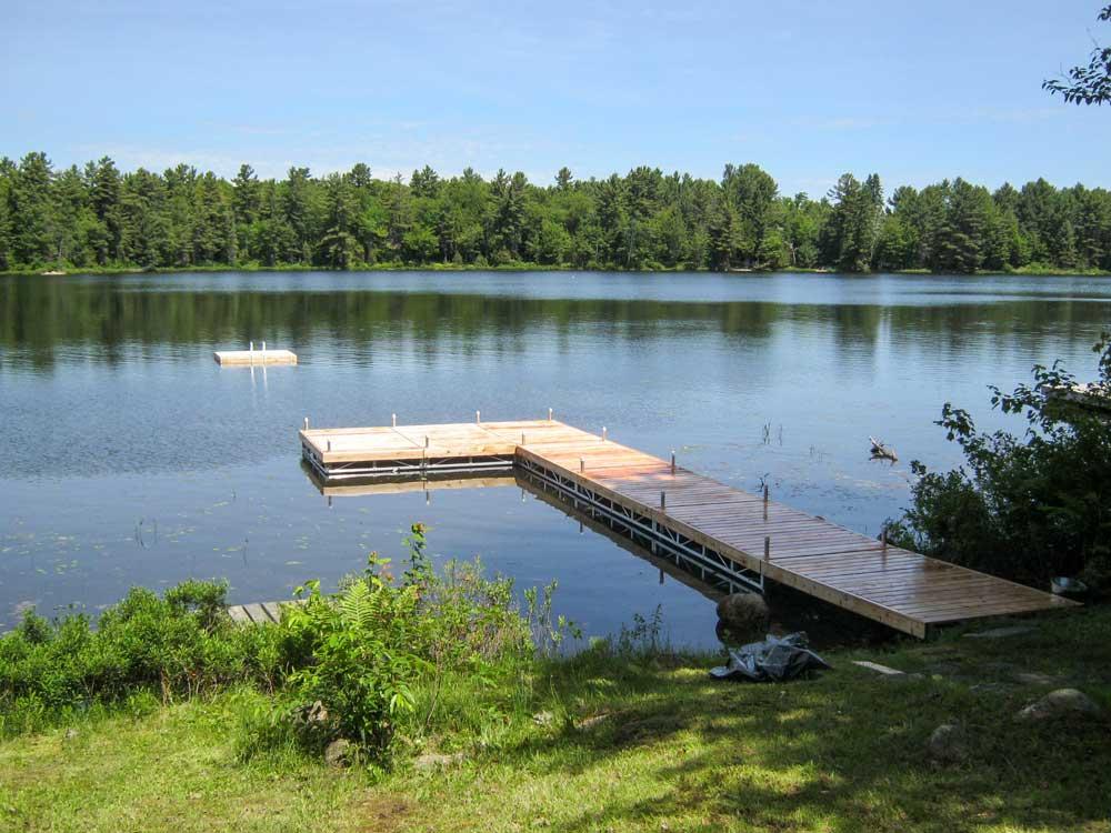 Pipe docks the dock depot for L shaped lake
