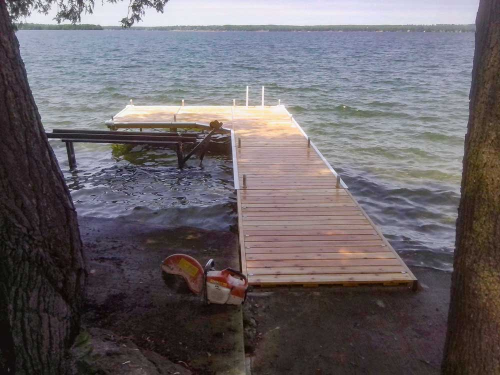 A Pipe Dock on Lake Couchiching.