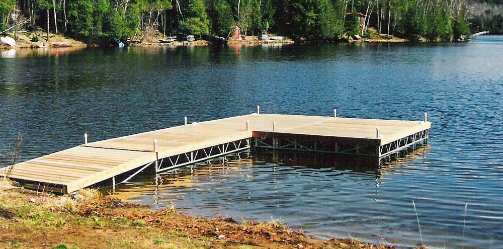 A pipe dock on Mary Lake.