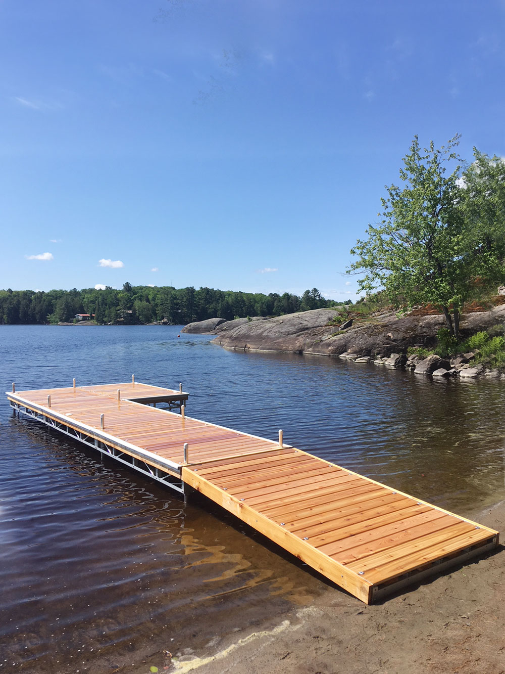 Brandy Lake Pipe Dock
