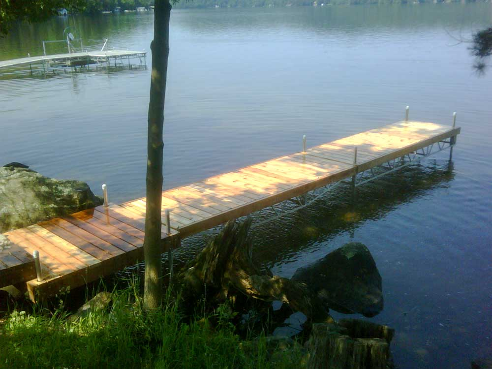 A Pipe Dock on Lake of Bays.